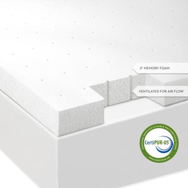 "Isolus 2"" Memory Foam Mattress Topper"