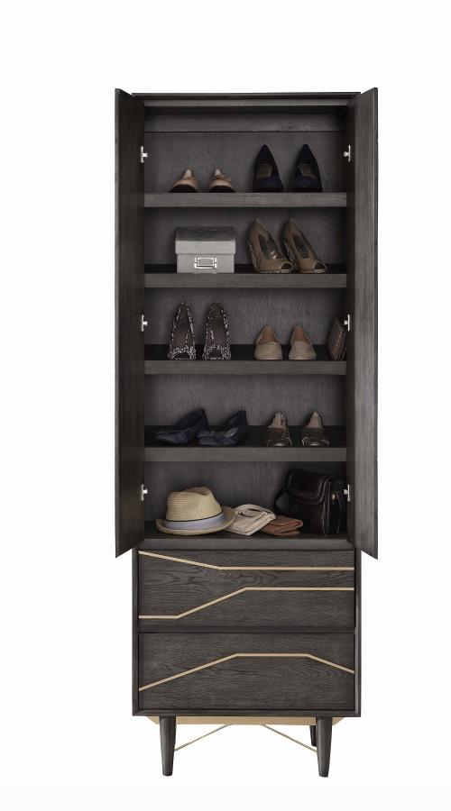 Goodwin Bedroom Collection - Tarah Shoe Tower - Graphite