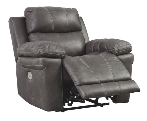 Erlangen Power Recliner w/Adjustable Headrest - Midnight