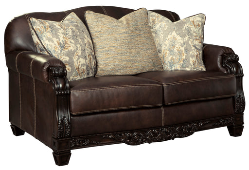 Embrook Loveseat - Genuine Leather