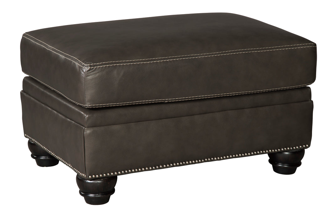 Lawthorn Ottoman - Genuine Leather