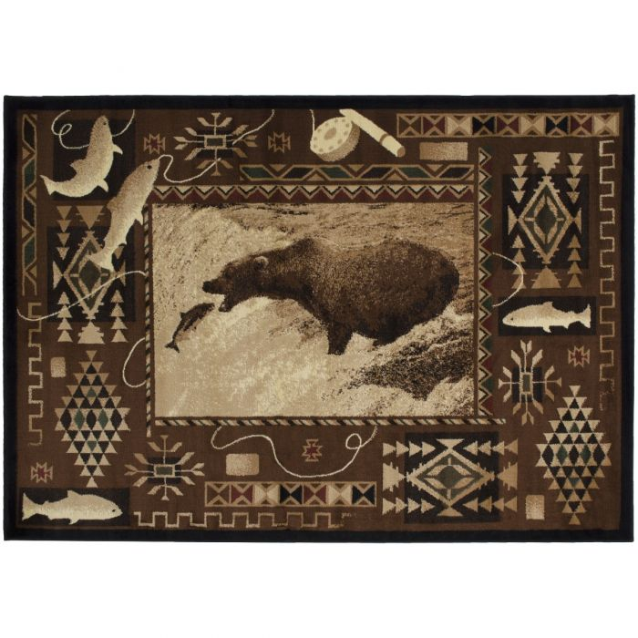 Fishing Bear Rug