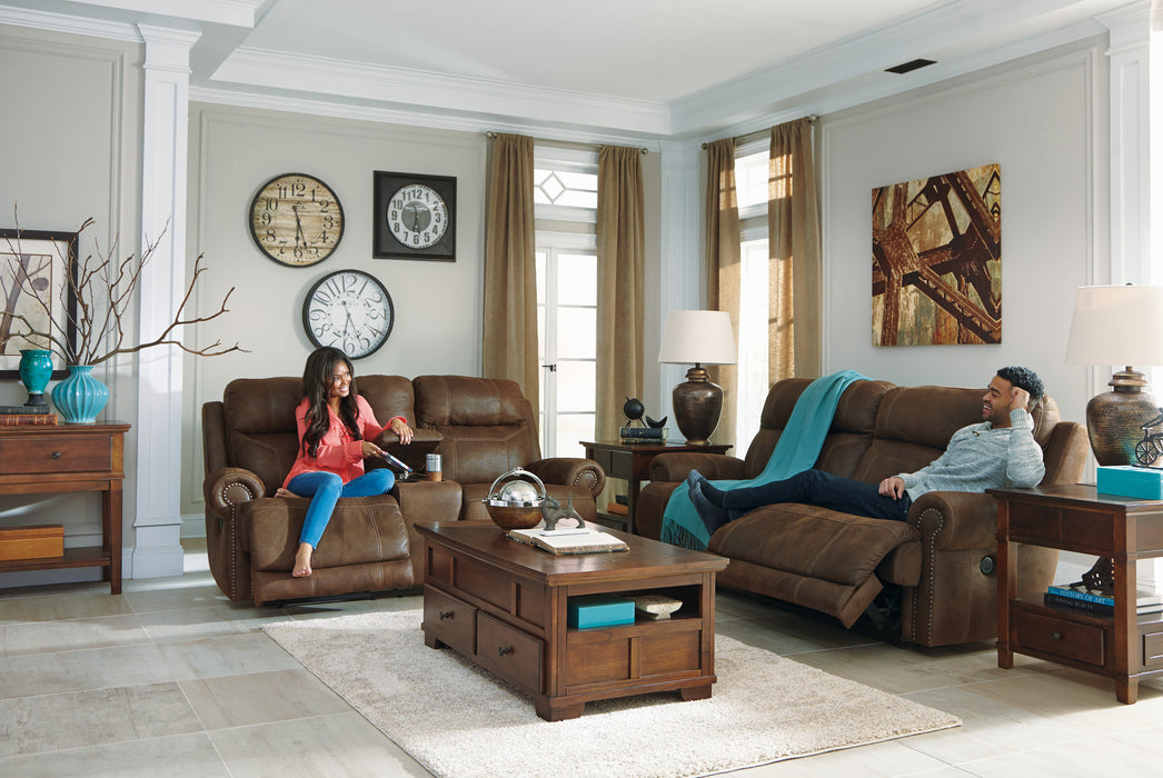 Austere - Reclining Sofa - 2 Colors - Optional Power
