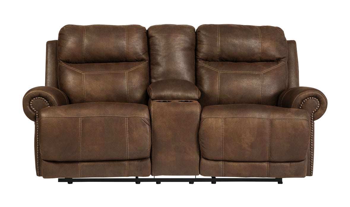 Austere - Reclining Loveseat w/ Console - 2 Colors - Optional Power