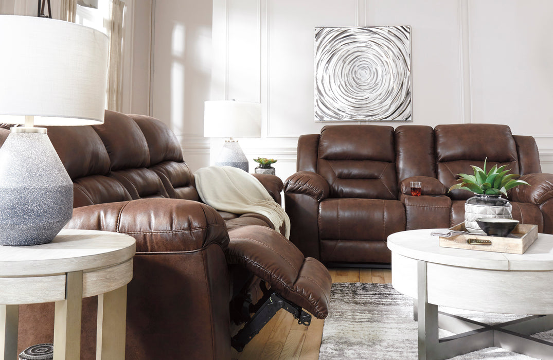 Stoneland  DBL Reclining Loveseat w/ Console - 2 Colors