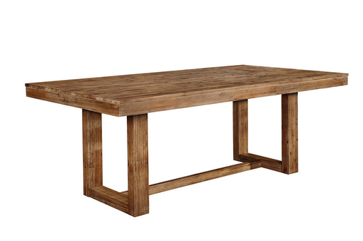 Elmwod Dining Table - Wired Brushed Nutmeg
