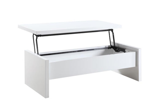 Charlotte - Lift Top Cocktail Table - Glossy White