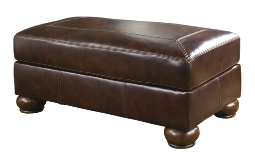 Axiom Ottoman - Genuine Leather