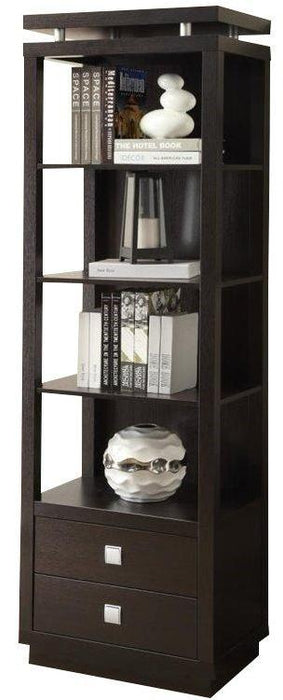 Bookcase Peir w/ Drawers -  Cappuccino