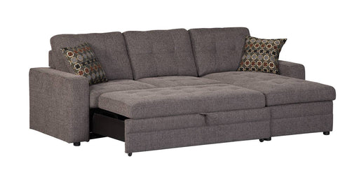 Gus Sleeper Sectional - Charcoal/Black