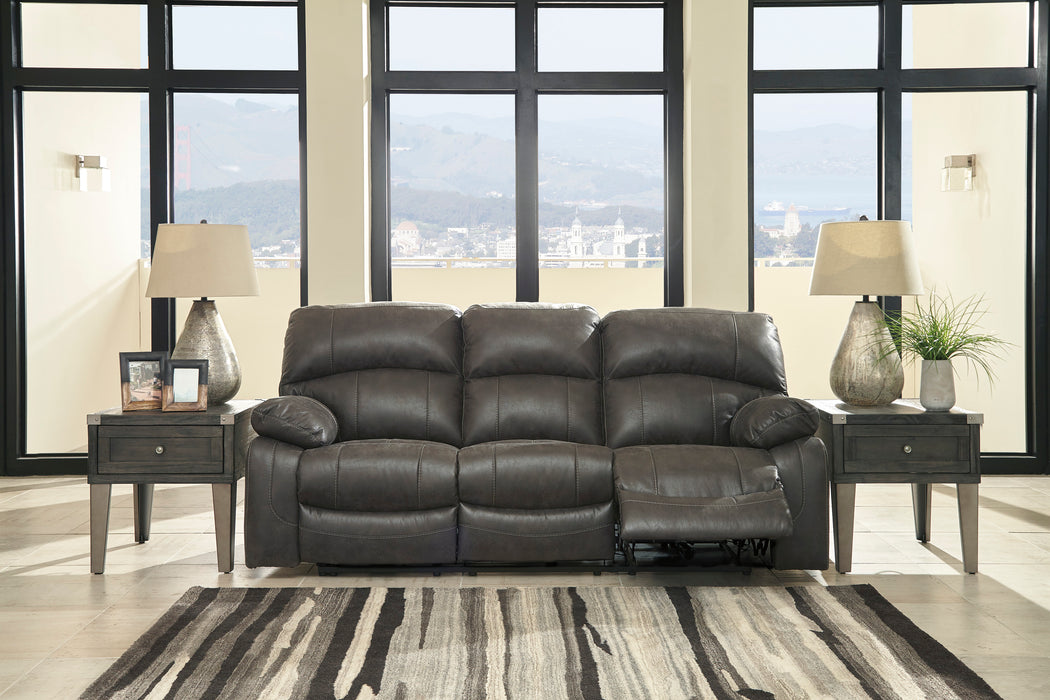 Dunwell - Power Reclining Sofa w/ Adjustable Headrest - 2 Colors