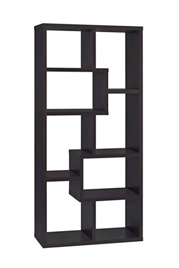 Multiple Cubed Rectangular Bookcase - 4 Colors