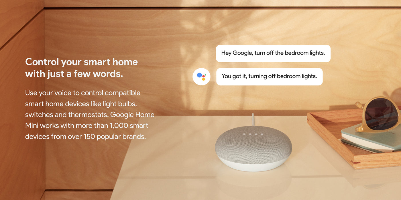Google Home Mini (1st Generation) - Smart Speaker with Google Assistant - Chalk