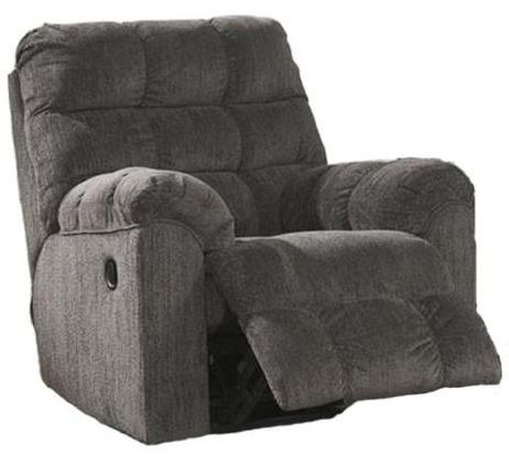 Acieona - Swivel Rocker Recliner - Slate