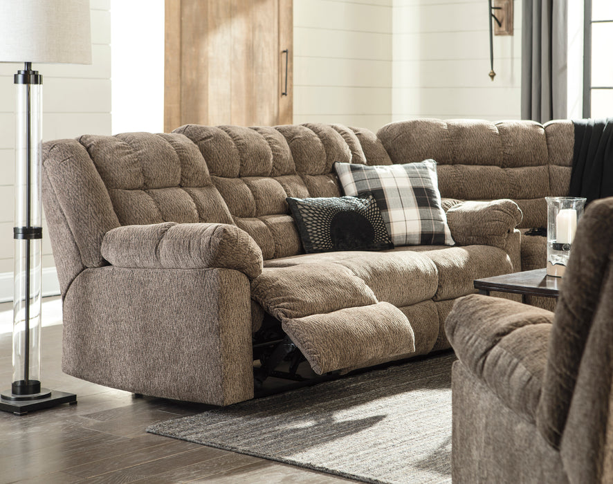 Workhorse - Reclining Sectional in 3 Options