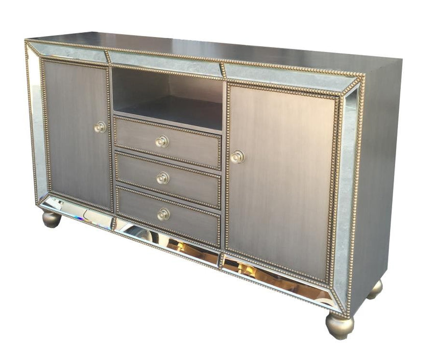 Richfield Contemporary Metallic Platinum 60″ TV Console