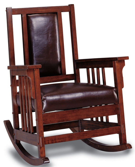 Padded Rocking Chair - Mission Brown