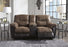 Follett - Reclining Loveseat w/ Console - Coffee