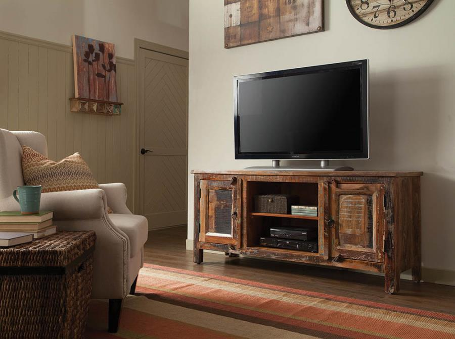 Mumbai Reclaimed Wood TV Stand