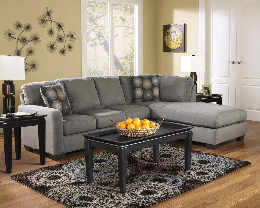 Zella Sectional Chaise - Charcoal