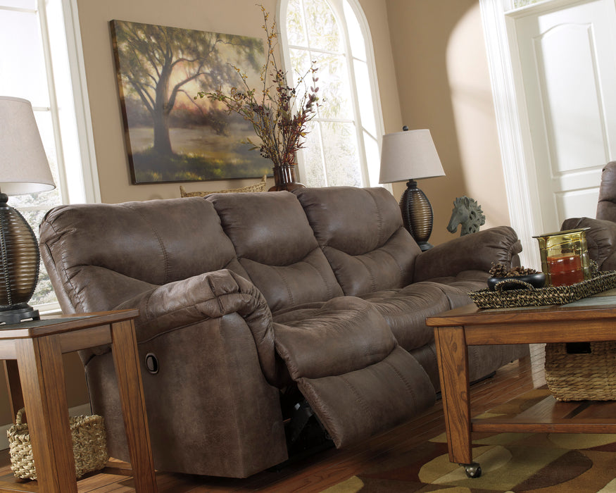 Alzena - Reclining Sofa - Gunsmoke
