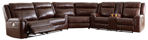 Wyline - Genuine Leather Reclining Sectional  w/ Power Headrest- 3 Options