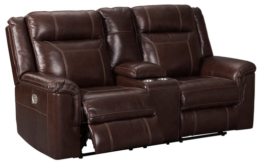 Wyline - Power Reclining Loveseat w/ Adjustable Headrest - Genuine Leather