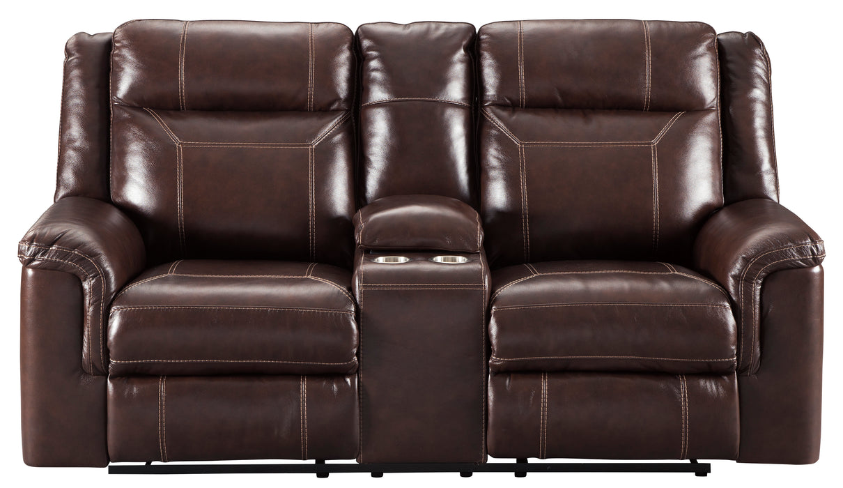 Outstanding Wyline Power Reclining Loveseat W Adjustable Headrest Genuine Leather Ibusinesslaw Wood Chair Design Ideas Ibusinesslaworg