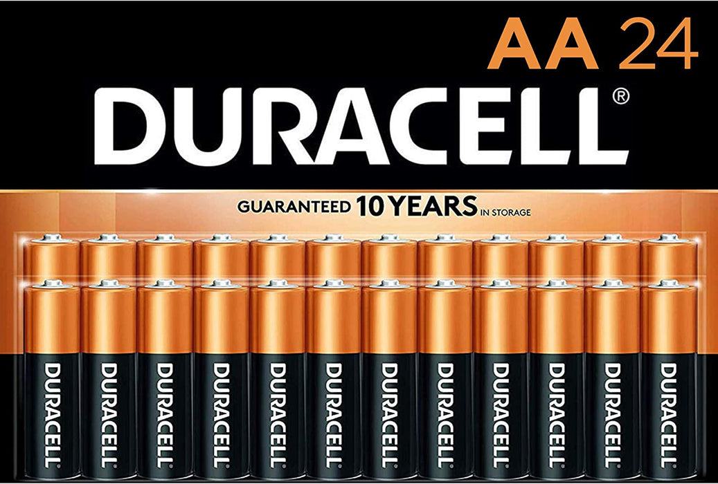 Duracell® Coppertop AA Alkaline Batteries, Pack Of 24