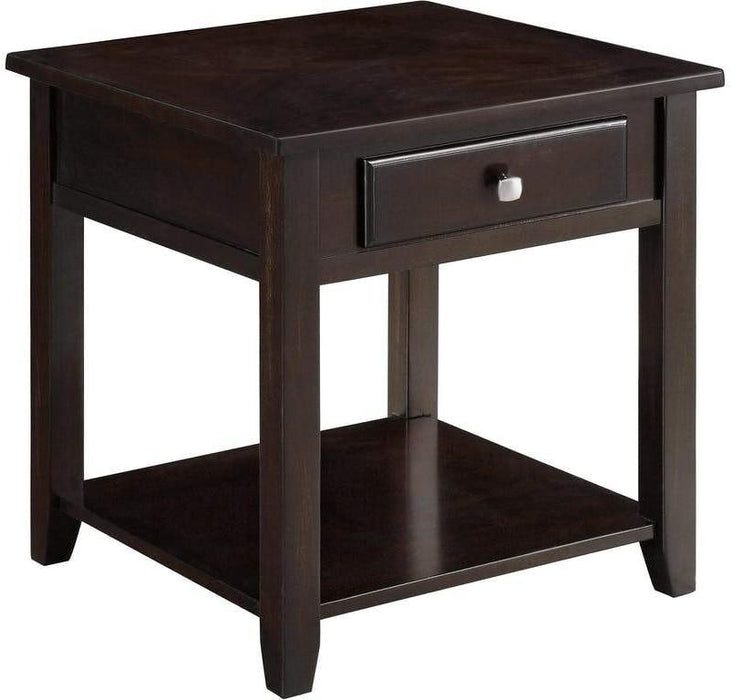 Landon - End Table - Deep Walnut