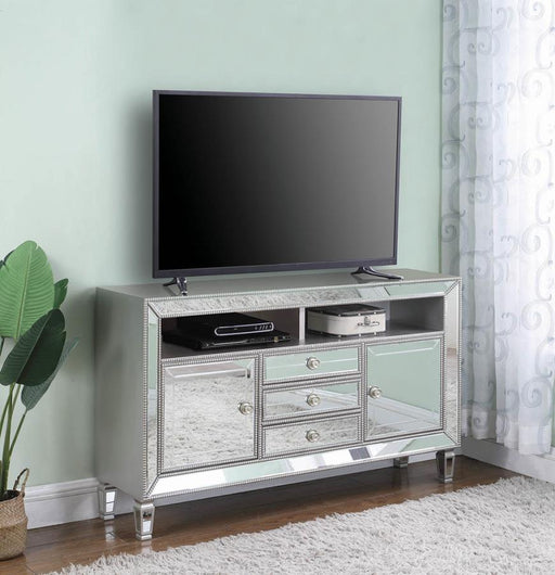 Edina Contemporary Metallic Platinum 60″ TV Console