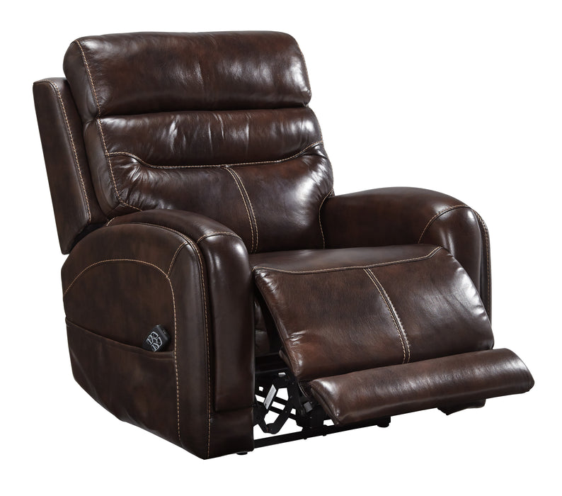 Ailor - Power Recliner w/ Adjustable Headrest - Genuine Leather