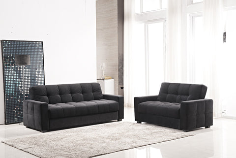 Futon Sofa with Storage Compartment