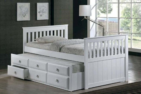 Milton Twin Mission Captain Bed in 2 Colors