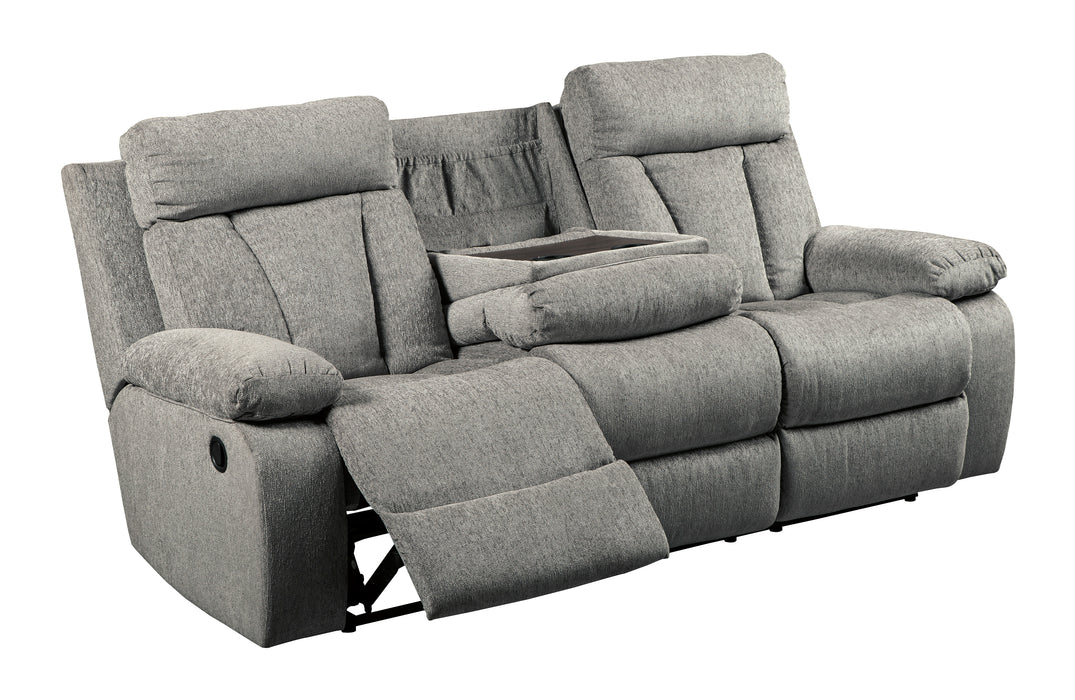 Amazing Mitchiner Reclining Sofa W Drop Down Table Bralicious Painted Fabric Chair Ideas Braliciousco
