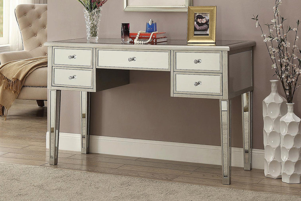 Writing Desk - Antique Silver