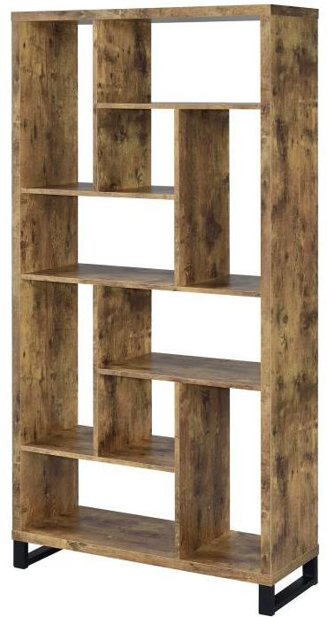 Industrial Squares Bookcase -  Antique Nutmeg