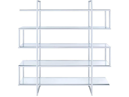 Four Tier Bookcase - Chrome