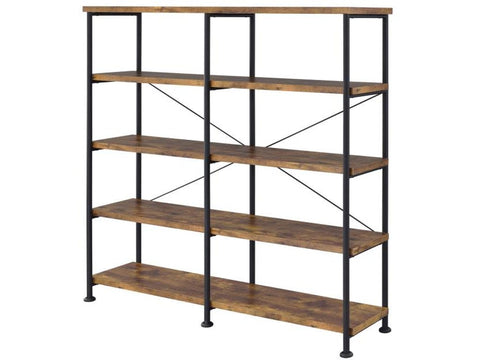 Four Tier Double Bookcase - 2 Colors