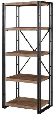 Rustic Modern Bookcase - Small - Weathered Chestnut
