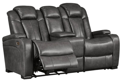 Turbulance Power Reclining Loveseat w/Adjustable Headrest