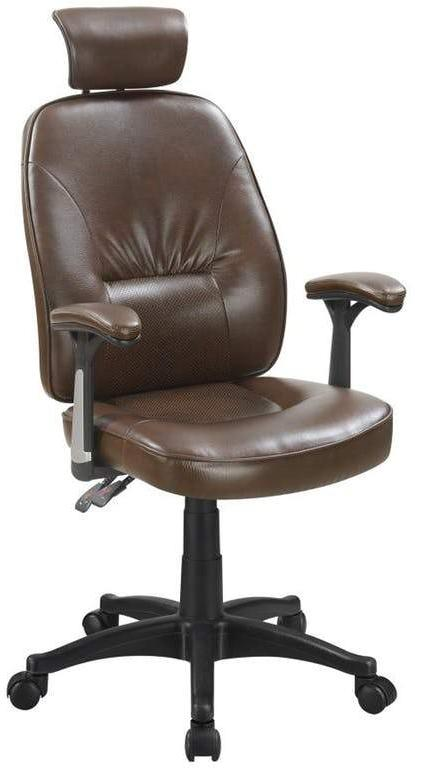 Office Chair - Brown Leatherette