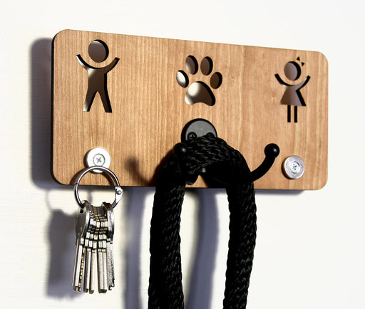 His Hers Paw Magnetic Key Rack - Wall Hook