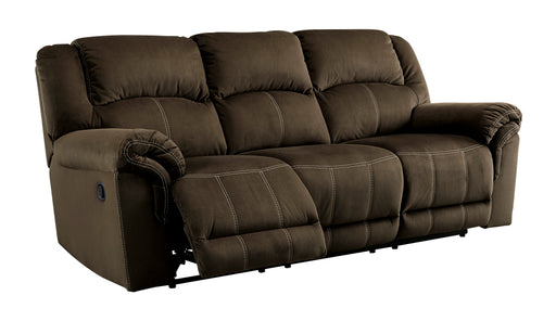 Quinnlyn - Reclining Sofa - Coffee - Optional Power - DISCONTINUED
