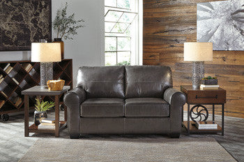 Canterelli Leather Loveseat in 2 Colors