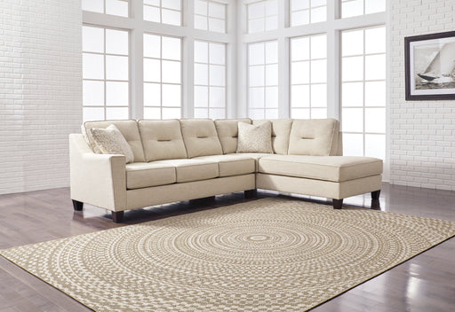 Kirwin Nuvella Sectional Chaise - 2 Colors - Sleeper Available