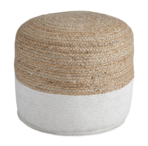 Sweed Valley Pouf - Natural/White