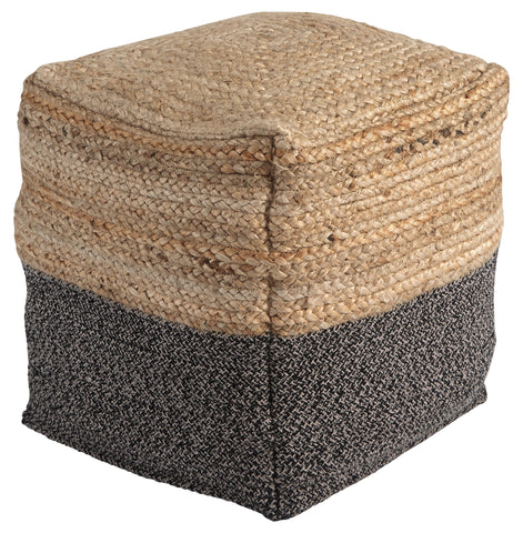Sweed Valley Pouf - Natural/Black