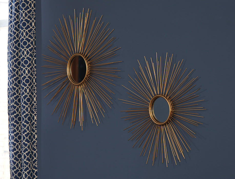 Doniel - Antique Gold Finish - Accent Mirrors Set (2/CN)