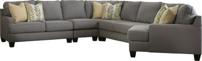 Chamberly Sectional w/ Cuddler - Alloy